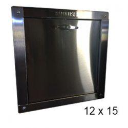 chute door bottom-hinged 12 x 15