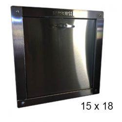chute door bottom-hinged 15 x 18
