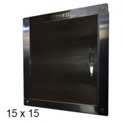 chute door left-hinged 15 x 15