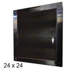 chute door left-hinged 24 x 24