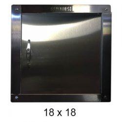 chute door right-hinged 18 x 18